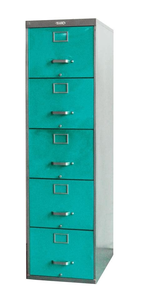 Five Drawer File Cabinet by Twenty File Cabinet 5 Drawer Turquoise Vintage