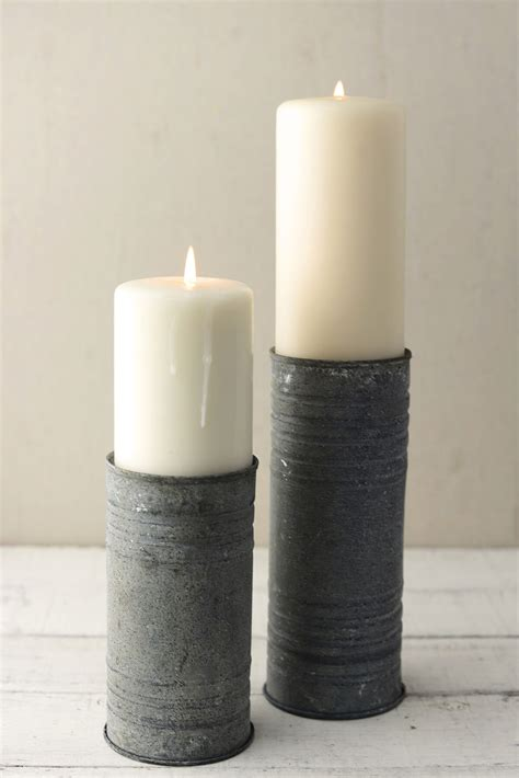 Cylinder Candle Holders by Zinc Cylinder Vase Pillar Candle Holder 8 Quot