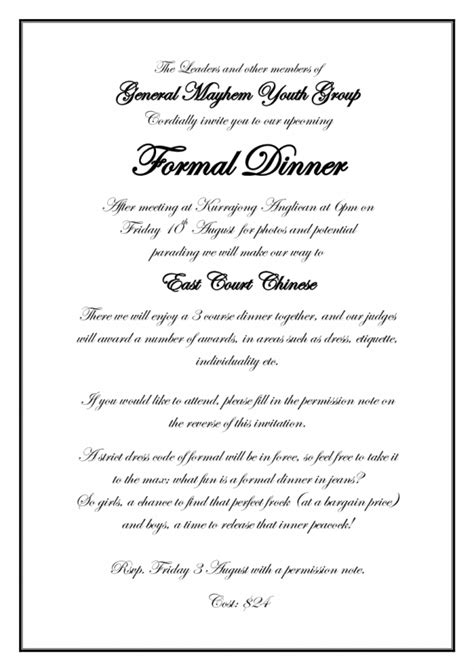 formal invitation template for an event 23 formal invitation templates ctsfashion card for an