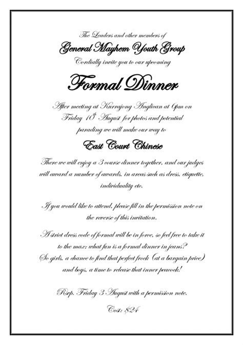 23 Formal Invitation Templates Ctsfashion Com Card For An