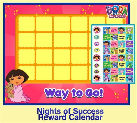 printable reward charts for dry nights chart dry nights or nights of successful waking to build