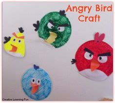 Angry Bird Paper Plate Craft - paper plate puppets adorable and easy to make paper
