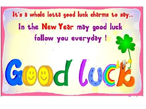 new year lucky phrases for exams luck quotes quotesgram