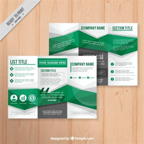 green geometric brochure template vector premium download