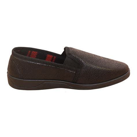 slip on slippers for dunlop mens soft faux leather slip on house slippers shoes