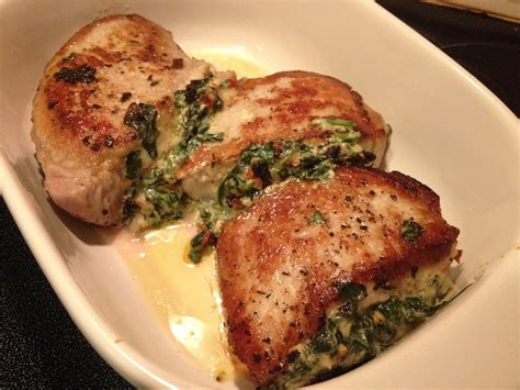 Stuffed Pork Chops With Spinach And Cheese