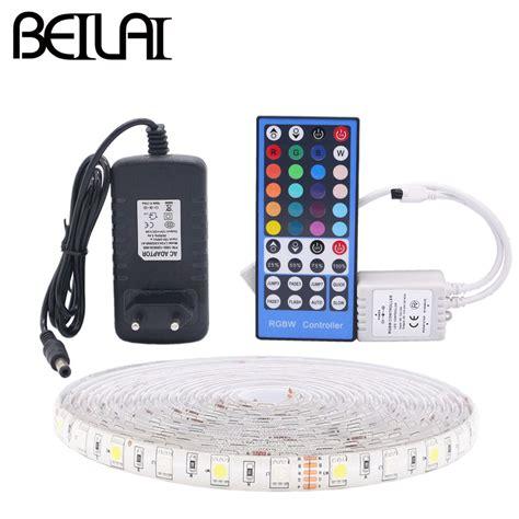 Led Light Strips 12v Waterproof Beilai 5050 Rgb Led Waterproof 5m 300led Dc 12v Rgbww Rgbw Led Light Strips Neon