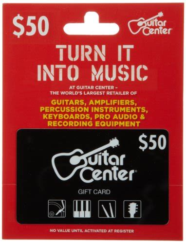 Gift Card Center - guitar center gift card 50 electronics audio audio components audio amplifiers
