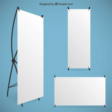 design x banner vector blank roll up banners vector free download