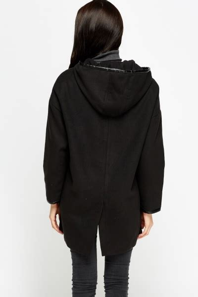 Hooded Button Coat button front hooded coat just 163 5