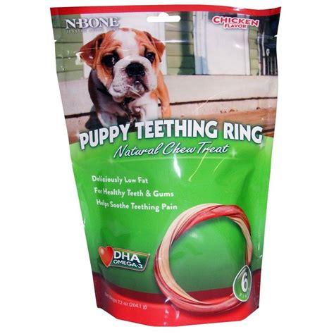 puppy teething treats n bone puppy chicken teething ring treats 6 count
