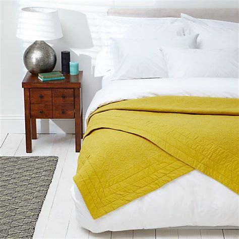 buy john lewis isana embroidered bedspread