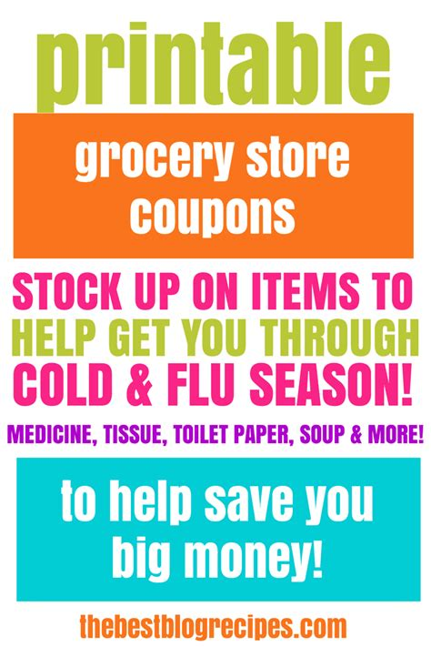printable grocery store coupons online free printable grocery coupons for cold flu season