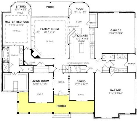 house plan with front kitchen house plan 4848 00271 traditional plan 3 914 square