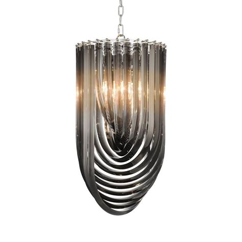 Chandelier Shop Murano Smoke Acrylic Chandelier Shop Now Regency Distribution