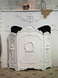 white shabby chic fireplace screen from paintedcottages on