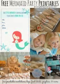 free mermaid printables beachy mermaid party kids