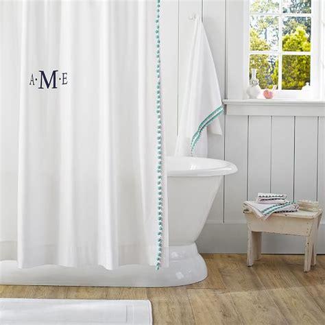 curtain pool pom pom shower curtain pool pbteen