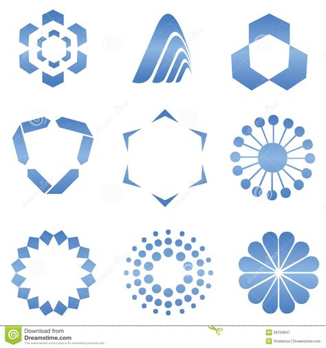 blue pattern logo abstract logo shapes royalty free stock photography