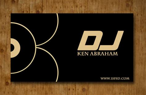 dj business card template dj business card templates