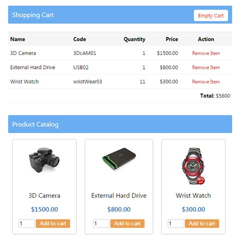 shopping cart download php