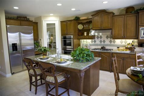 pictures of kitchens traditional medium pictures of kitchens traditional medium wood cabinets brown