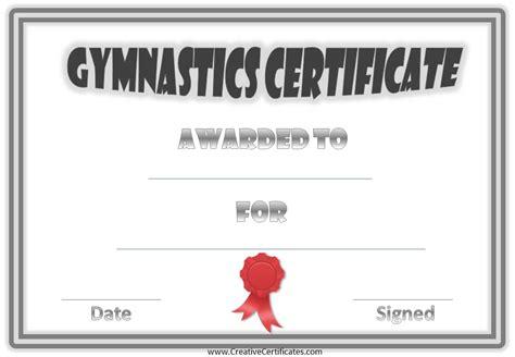 gymnastics certificate template gymnastics awards