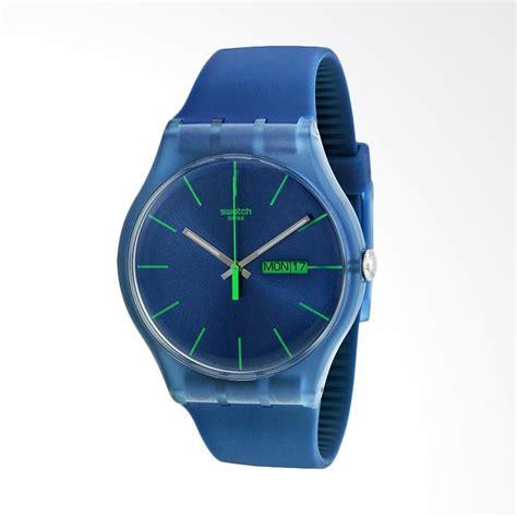 Jam Tangan Swatch Biru jual swatch blue rebel jam tangan pria biru suon700