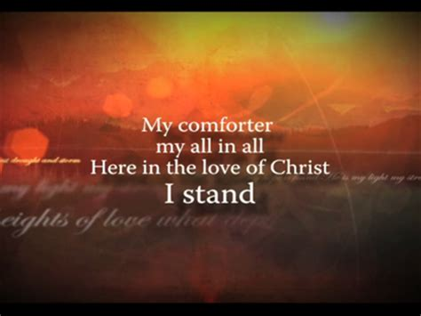 my comforter my all in all lyrics thursday hymn reflection quot in christ alone quot the faughn