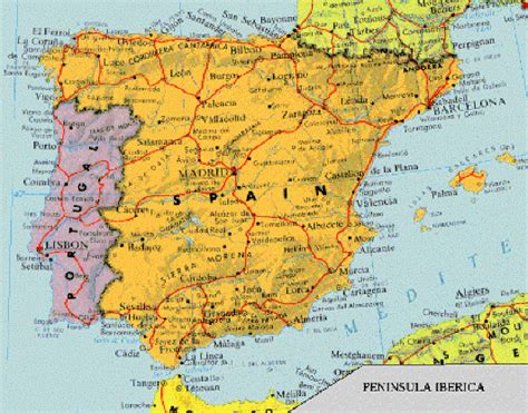 map of spain and portugal portugal spain map imsa kolese