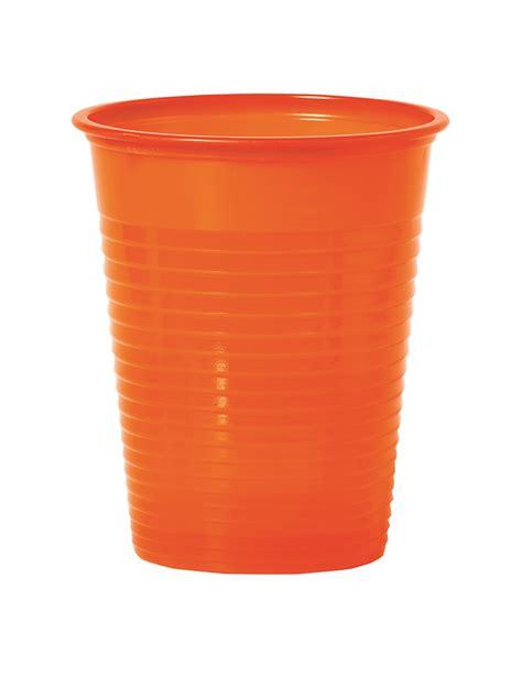 bicchieri di 50 bicchieri di plastica arancioni addobbi e vestiti di