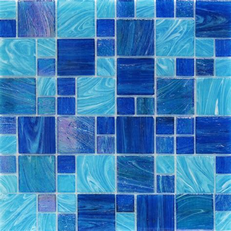 blue tiles shop for aquatic ocean blue french pattern glass tile at