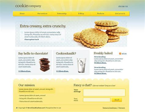 Cookie Website Template Graphic Hive Cookie Website Template