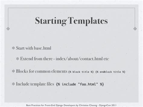 Django Include Template by Best Practices For Front End Django Developers