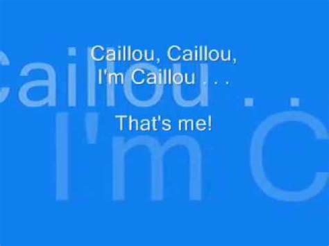 english themes songs caillou english theme lyrics youtube