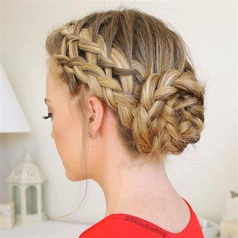 flashbackfriday   waterfall dutch french braid  braided bun combo braid crazy