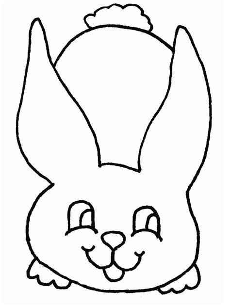 bunny rabbit face az coloring pages