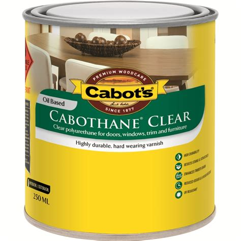 cabots ml matt cabothane clear polyurethane timber varnish