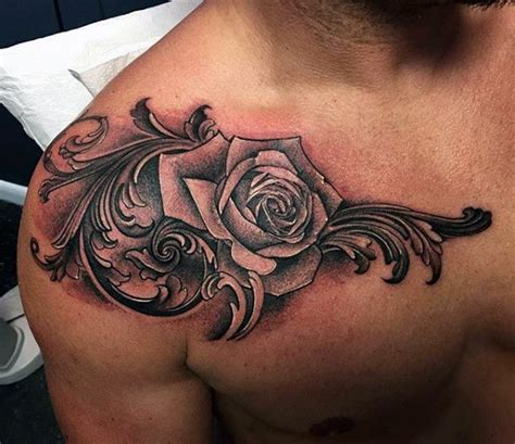 17 best rose chest tattoo designs images on pinterest top 55 best rose tattoos for men improb