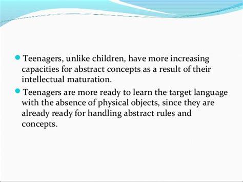 teaching across age level teenagers