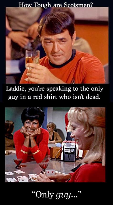 Redshirt Meme - red shirt star trek funny dump a day