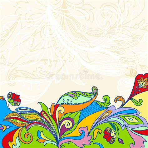 colorful card background design elements free vector in hand drawn frame with colorful doodling elements stock