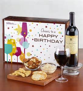 Happy birthday red wine and gourmet box from 1 800 baskets com