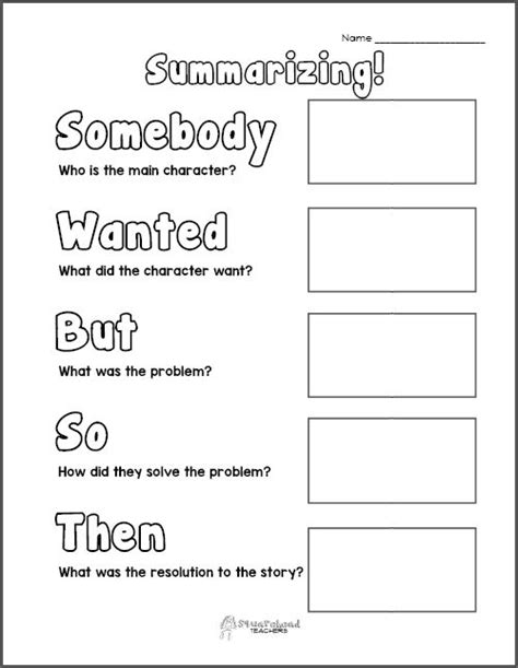 gist summary template graphic organizers squarehead teachers