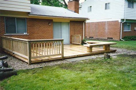 low deck designs in decks for mobile homes
