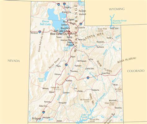 utah reference map popular 207 list utah map