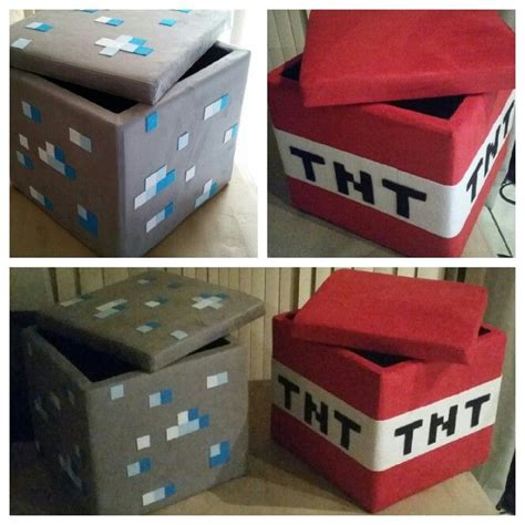minecraft theme bedroom d i y minecraft ottomans that i made for my son s