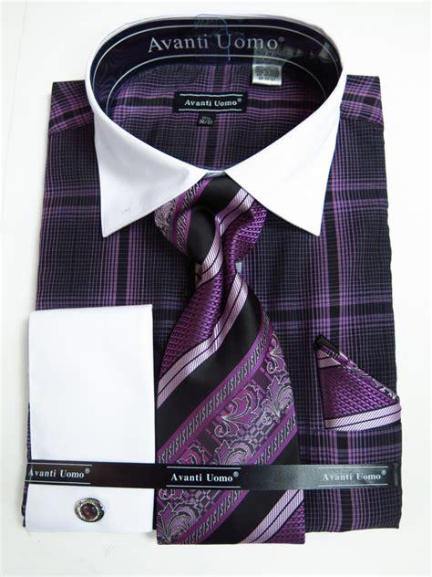 pattern french cuff shirts avanti uomo dn62m lavender men s french cuff dress shirt