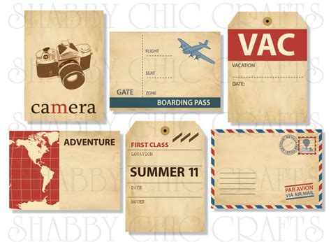 printable travel tags weekend wrap up party and shabby chic crafts giveaway