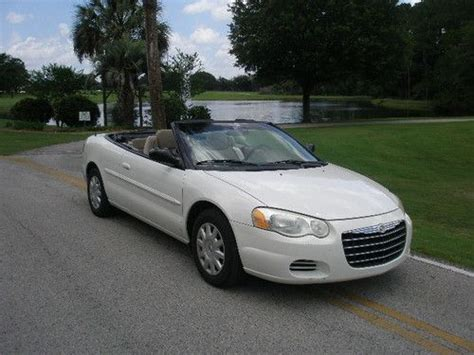 2004 chrysler convertible buy used 2004 chrysler sebring convertible white new top
